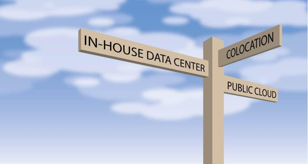 Three choices when deciding the data center solution: Colocation, Public Cloud or In-house Data Center