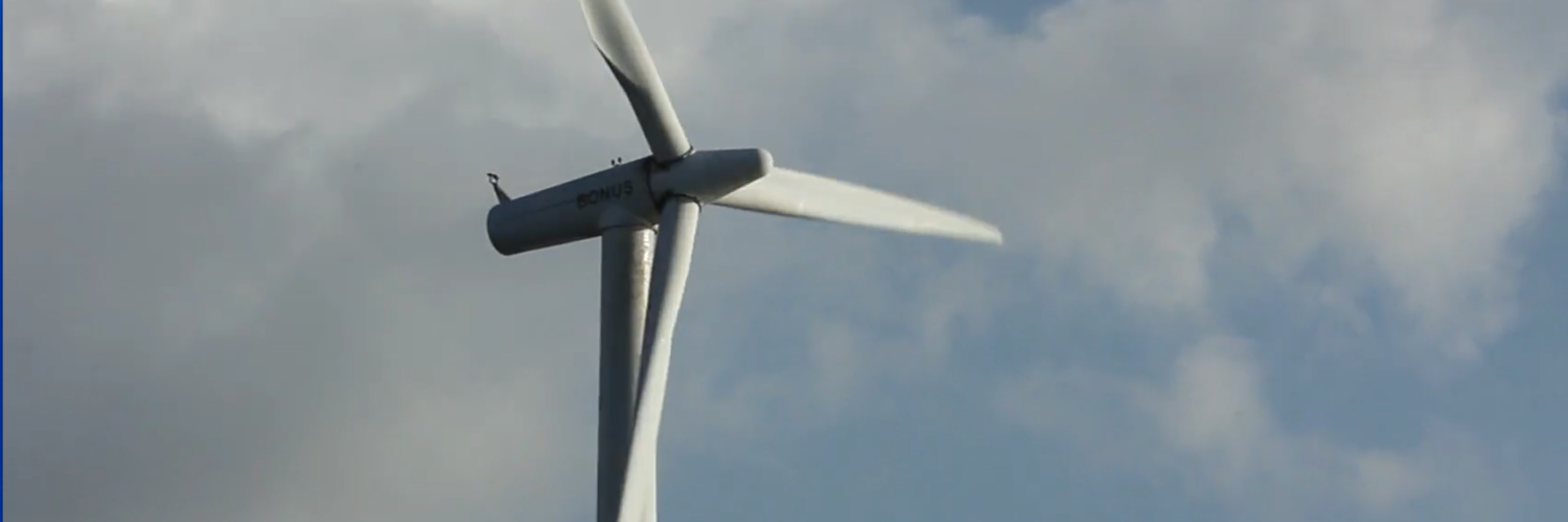 Wind turbine producing green renewable energy